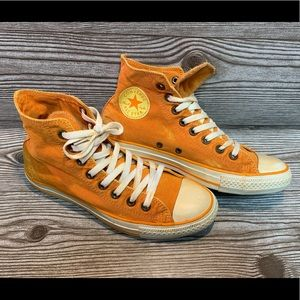 Converse Distressed Orange Sz 9 Women All-Stars